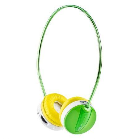Наушники ENZATEC FP111GR с MP3-плеером, зеленые