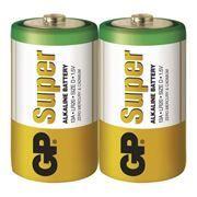 Батарейка D GP Super Alkaline LR20, щелочная, 2 шт, термопленка (13A-2S2)