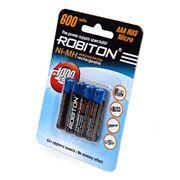 Аккумулятор AAA ROBITON HR03 600мА/ч Ni-Mh, 4шт, блистер (8795)