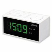 Радиочасы RITMIX RRC-1212 White, FM, будильник, 220В