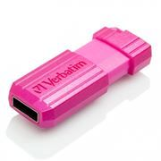 16Gb Verbatim PinStripe Hot Pink USB 2.0 (49067)