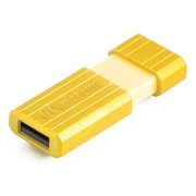 16Gb Verbatim PinStripe Sunkissed Yellow USB 2.0 (49066)