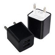 Зарядное устройство Oxion ACA-009, 220V->5V 2А 2xUSB, черное