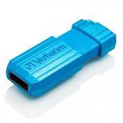 16Gb Verbatim PinStripe Caribbean Blue USB 2.0 (49068)