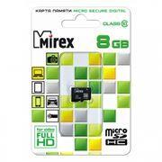 Карта памяти Micro SDHC 8Gb Mirex Class 10 без адаптера (13612-MC10SD08)