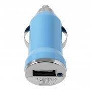 Зарядное автомобильное устройство Oxion AC001BL, голубое, 1A USB