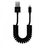 Кабель USB 2.0 Am=>Apple 8 pin Lightning, 1 м, витой, черный, SmartBuy (iK-512sp black)