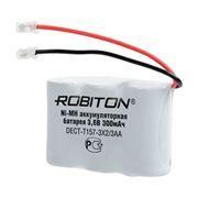 Аккумулятор для радиотелефона ROBITON DECT-T157-3X2/3AA 3.6V 300mAh Ni-Mh (13472)