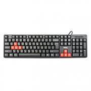 Клавиатура DIALOG KS-030UBR USB, черно-красная