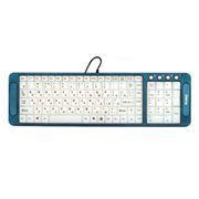 Клавиатура DIALOG KK-L04U USB, синяя, с подсветкой символов