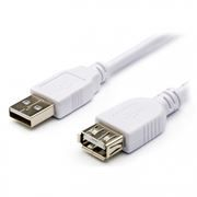 Кабель удлинитель USB 2.0 Am=>Af - 0.8 м, белый, Atcom (AT3788)