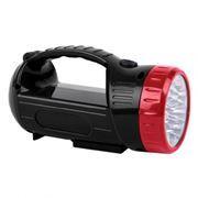 Фонарь-прожектор SmartBuy, аккумуляторный, зарядка 220В, черный, 12+9 SMD (SBF-401-1-K)