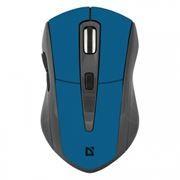 Мышь беспроводная DEFENDER MM-965 Accura, голубая, USB (52967)