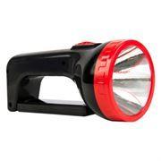 Фонарь-прожектор SmartBuy, аккумуляторный, зарядка 220В, черный, 1W+ 12 SMD (SBF-303-K)