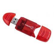 Карт-ридер внешний USB Oxion OCR003RD, SD, красный