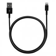 Кабель USB 2.0 Am=>Apple 8 pin Lightning, 1 м, черный, Mirex (13700-AM8PM10B)