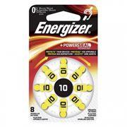 Батарейка ENERGIZER Hearing Zinc Air 10 для слуховых аппаратов, 8 шт, блистер