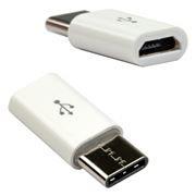 Адаптер USB 3.1 Type C(m) - USB 2.0 micro Bf, белый, Dialog (HC-A7000)
