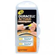 Батарейка DURACELL ActivAir DA10 для слуховых аппаратов, 6 шт, блистер