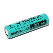 Аккумулятор 18650 VIDEX 2800мА/ч, незащищенный, без блистера (VID-18650-2.8-NP)