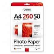 Бумага A4 VIDEX глянцевая 260 г/м, 50 листов (HGA4-260/50)
