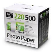 Бумага A6 VIDEX матовая 220 г/м, 10x15 см, 500 листов (MKA6-220/500)