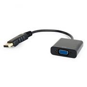 Адаптер DisplayPort/M - VGA/F, 0.15 м, Cablexpert (A-DPM-VGAF-02)