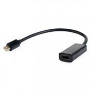 Адаптер mini DisplayPort/M - HDMI/F, 0.15 м, черный, Cablexpert (A-mDPM-HDMIF-02)