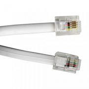Кабель телефонный c разъёмами 6p4c RJ12/RJ11, 2 м, Gembird (TC6P4C-2M)