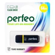 64Gb Perfeo C01 Black USB 2.0 (PF-C01B064)