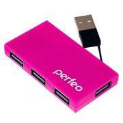 HUB 4-port Perfeo PF-VI-H023, розовый