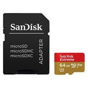 Карта памяти Micro SDXC 64Gb SanDisk Extreme Class 10 UHS-I V30 90Мб/с + адаптер SD