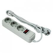 Сетевой фильтр ExeGate SP-3-3G, 3 м, 10A, 3 розетки, серый