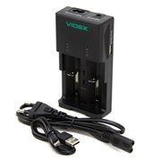 Зарядное устройство VIDEX VCH-U202, 2х АА/ААА/SC/C/18650/14500/16340