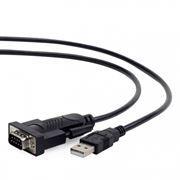 Адаптер USB Am - DB9M/RS232, 1.5 м, черный, Gembird (UAS-DB9M-02)