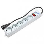 Сетевой фильтр для ИБП, Power Cube, 2.2 кВт 10A, серый, 0.5 м, 5 розеток (SPG-B-0,5МExt)
