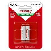 Аккумулятор AAA SmartBuy HR03-2BL 600мА/ч Ni-Mh, 2шт, блистер (SBBR-3A02BL600)