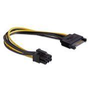 Переходник питания для видеокарты SATA -> PCI-E 6pin, Gembird (CC-PSU-SATA)