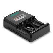 Зарядное устройство VIDEX VCH-ND400, 4х АА/ААА, 1x9V, ЖК-дисплей, питание от сети 220В + авто