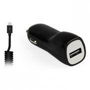 Зарядное автомобильное устройство SmartBuy NITRO, 1A, витой кабель microUSB, черное (SBP-1501MC-V)