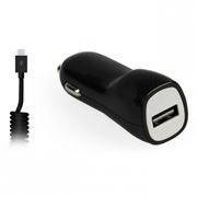 Зарядное автомобильное устройство SmartBuy NOVA MKII, 2.1A, витой каб.microUSB, черн. (SBP-1503MC-V)