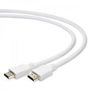 Кабель HDMI 19M-19M V1.4, 1.8 м, белый, позол. разъемы, Gembird/Cablexpert (CC-HDMI4-W-6)