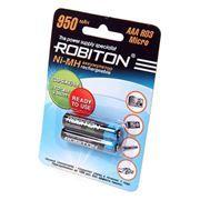 Аккумулятор AAA ROBITON HR03 950мА/ч Ni-Mh, 2шт, блистер, низкий саморазряд (RTU950MHAAA-2) (9792)