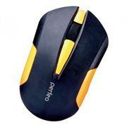 Мышь беспроводная Perfeo Sonata, чёрно-жёлтая, USB (PF-153-WOP-B/Y)