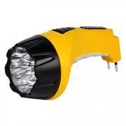 Фонарь SmartBuy, аккумуляторный, зарядка 220В, желтый, 15+10 LED (SBF-89-Y)