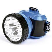 Фонарь налобный SmartBuy, 1W LED+ 8 LED, синий (SBF-25-B)