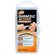 Батарейка DURACELL ActivAir DA312 для слуховых аппаратов, 6 шт, блистер