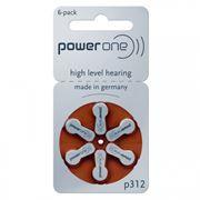 Батарейка VARTA Power One p312 для слуховых аппаратов, 6 шт, блистер