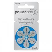 Батарейка VARTA Power One p675 для слуховых аппаратов, 6 шт, блистер