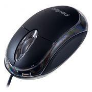 Мышь Perfeo Glow с подсветкой, черная, USB, Color Box (PF-010-CB)